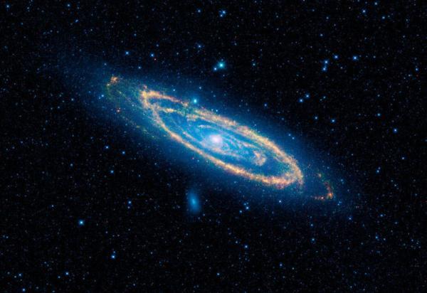 Az Androméda galaxis a WISE szemén keresztül